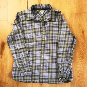 LL Bean plaid flannel in large